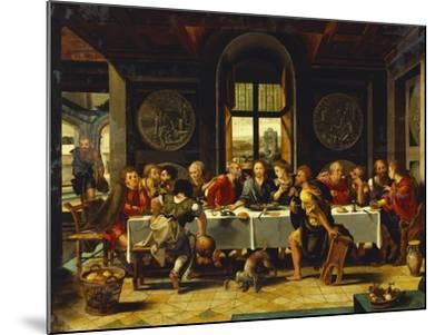 The Last Supper-Pieter Coecke van Aelst (Studio of)-Mounted Giclee Print