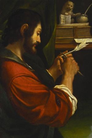 Saint Mark-Giovanni Francesco Barbieri (Studio of)-Stretched Canvas Print