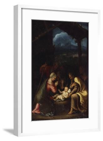 The Nativity-Giulio Romano-Framed Giclee Print