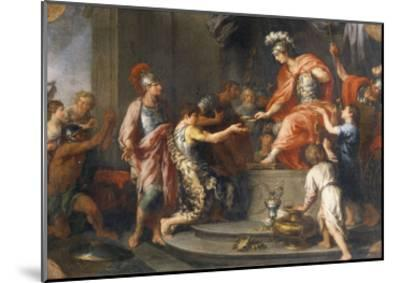 Liberality: Alexander the Great Rewarding His Captains-Francesco Fernandi-Mounted Giclee Print