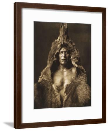 Bear's Belly-Arikara 1908-Edward S^ Curtis-Framed Giclee Print