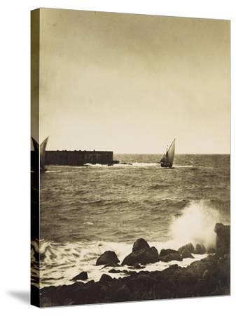 The Broken Wave; La Vague Brise-Mer, Mediterranee-Gustave Le Gray-Stretched Canvas Print