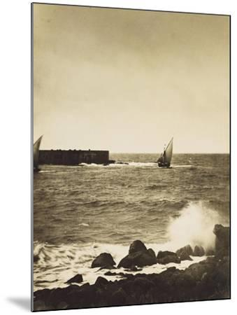The Broken Wave; La Vague Brise-Mer, Mediterranee-Gustave Le Gray-Mounted Giclee Print