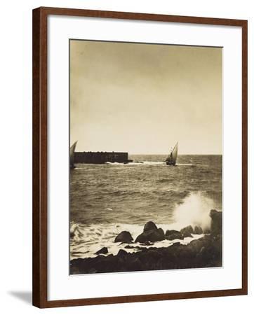 The Broken Wave; La Vague Brise-Mer, Mediterranee-Gustave Le Gray-Framed Giclee Print