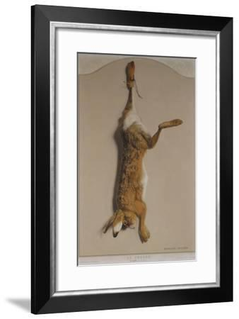 Souvenirs of the Hunt:The Hare; Souvenirs De Chasses: Le Lievre-Edouard Travies-Framed Giclee Print