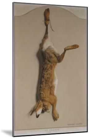 Souvenirs of the Hunt:The Hare; Souvenirs De Chasses: Le Lievre-Edouard Travies-Mounted Giclee Print