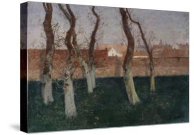 The Walled Garden-Fritz Thaulow-Stretched Canvas Print