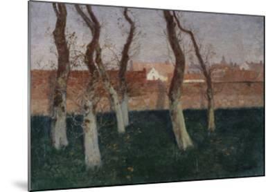 The Walled Garden-Fritz Thaulow-Mounted Giclee Print