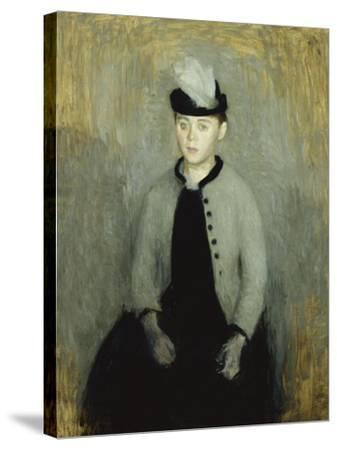 Portrait of Ida Ilsted, Aged Twenty-One, Seated Three-Quarter Length-Vilhelm Hammershoi-Stretched Canvas Print