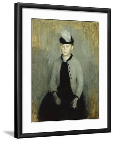 Portrait of Ida Ilsted, Aged Twenty-One, Seated Three-Quarter Length-Vilhelm Hammershoi-Framed Giclee Print