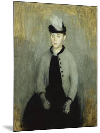 Portrait of Ida Ilsted, Aged Twenty-One, Seated Three-Quarter Length-Vilhelm Hammershoi-Mounted Giclee Print