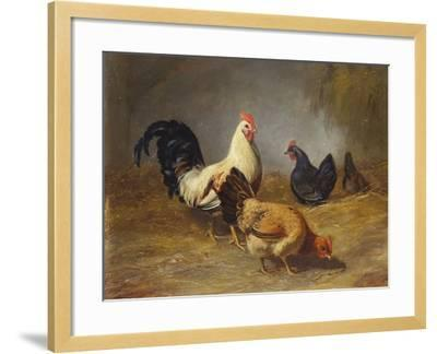 Poultry Feeding-Arthur Fitzwilliam Tait-Framed Giclee Print