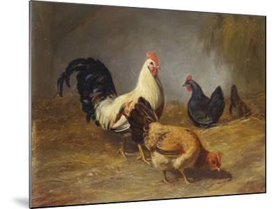 Poultry Feeding-Arthur Fitzwilliam Tait-Mounted Giclee Print
