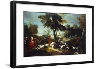 The Hunt with Wolf; La Chasse Au Loop-Jean Baptiste Oudry (Attr to)-Framed Giclee Print
