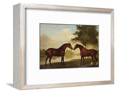 Two Hunters by a Lake-George Stubbs-Framed Premium Giclee Print