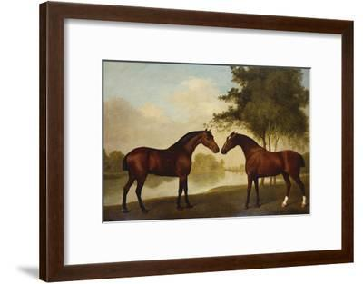 Two Hunters by a Lake-George Stubbs-Framed Giclee Print