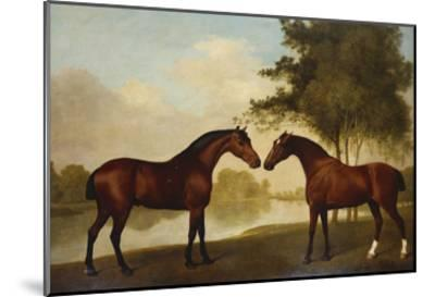 Two Hunters by a Lake-George Stubbs-Mounted Giclee Print