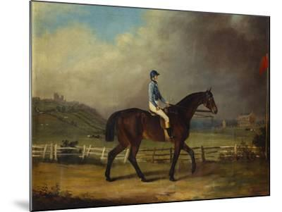 Mr. Hindley's Brown Filly 'Rosina' by 'Romulus' Ridden by the Owner on Lincoln Race Course-P. Ewbank-Mounted Giclee Print