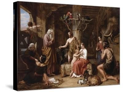The Return of the Dove to the Ark-Charles Landseer-Stretched Canvas Print