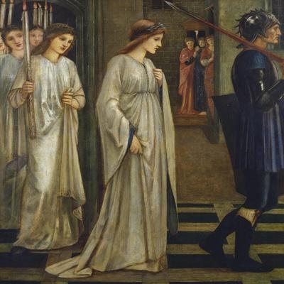 Princess Sabra Led to the Dragon-Edward Burne-Jones-Framed Giclee Print