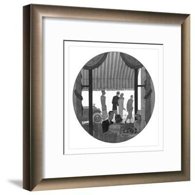 Vogue - May 1927-Pierre Mourgue-Framed Premium Giclee Print