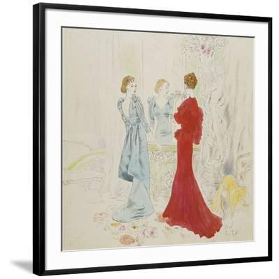 Vogue - February 1934-Cecil Beaton-Framed Premium Giclee Print