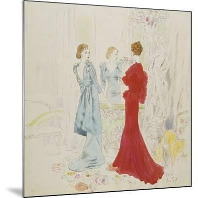 Vogue - February 1934-Cecil Beaton-Mounted Premium Giclee Print