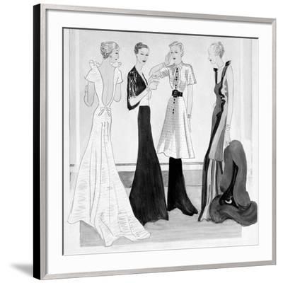 Vogue - September 1934-Eduardo Garcia Benito-Framed Premium Giclee Print