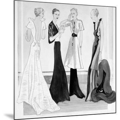 Vogue - September 1934-Eduardo Garcia Benito-Mounted Premium Giclee Print