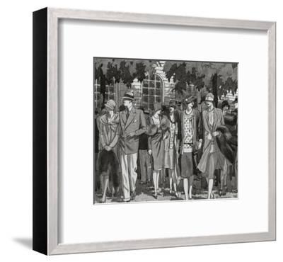 Vogue - November 1927-Pierre Mourgue-Framed Premium Giclee Print