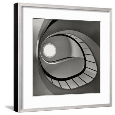 Vogue - April 1952 - Spiral Staircase-Fred Lyon-Framed Premium Photographic Print