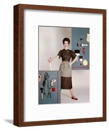 House & Garden - January 1952-Constantin Joff?-Framed Premium Photographic Print