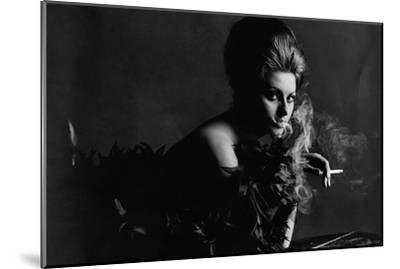 Vogue - November 1962 - Smoky Sophia-Bert Stern-Mounted Premium Photographic Print