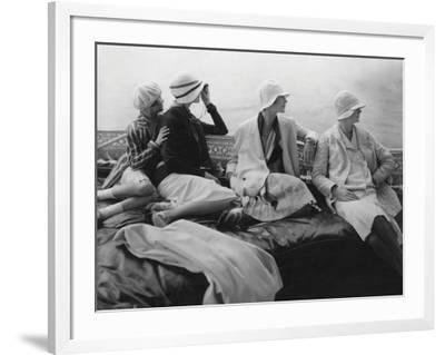 Vogue - July 1928 - Yachting-Edward Steichen-Framed Premium Photographic Print