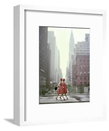 Vogue - August 1958 - Taking A Stroll-Sante Forlano-Framed Premium Photographic Print