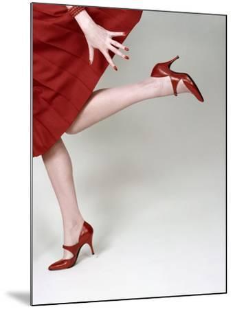 Vogue - February 1958 - Fleming-Joffe Red Heels-Richard Rutledge-Mounted Premium Photographic Print