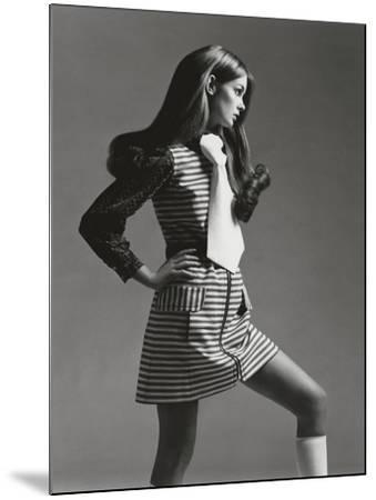 Vogue - March 1969 - Jean Shrimpton in Mini-Gianni Penati-Mounted Premium Photographic Print