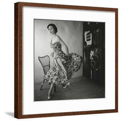 Vogue - March 1954-Henry Clarke-Framed Premium Photographic Print
