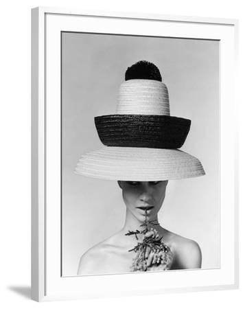 Vogue - June 1963 - Galitzine Hat-Karen Radkai-Framed Premium Photographic Print