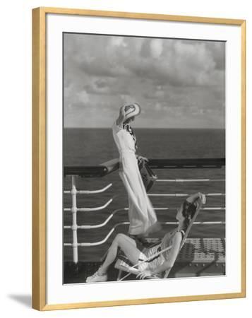 Vogue - July 1934 - Cruising to Hawaii-Edward Steichen-Framed Premium Photographic Print