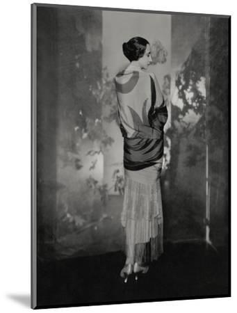 Vogue - December 1924-Edward Steichen-Mounted Premium Photographic Print
