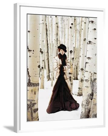 Vogue - October 1999 - Winter Among the Trees-Arthur Elgort-Framed Premium Photographic Print