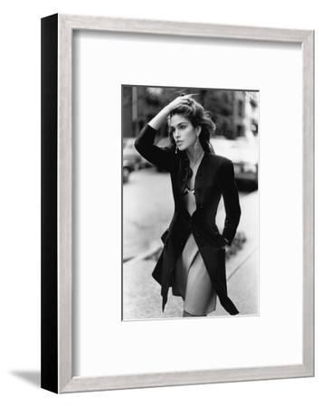 Vogue - February 1988 - Cindy Crawford, 1988-Arthur Elgort-Framed Premium Photographic Print