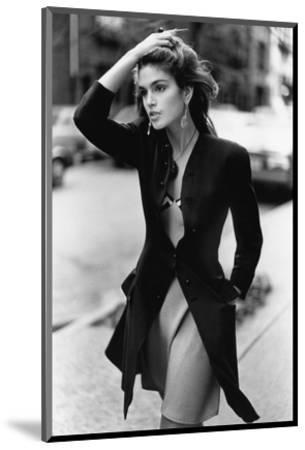 Vogue - February 1988 - Cindy Crawford, 1988-Arthur Elgort-Mounted Premium Photographic Print