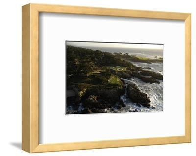 Cypress Point Golf Course, rocky coastline-J.D. Cuban-Framed Premium Photographic Print