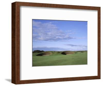 Carnoustie Golf Links, side-by-side bunkers-Stephen Szurlej-Framed Premium Photographic Print