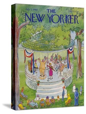 The New Yorker Cover - July 7, 1980-George Booth-Stretched Canvas Print
