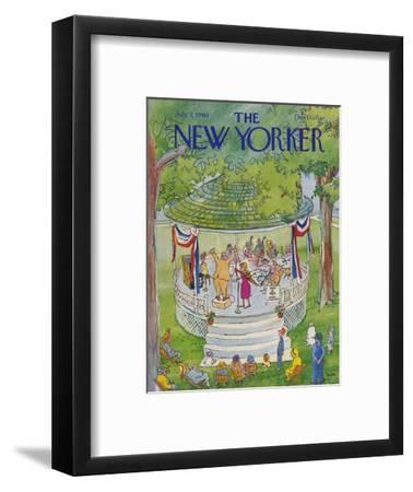 The New Yorker Cover - July 7, 1980-George Booth-Framed Premium Giclee Print