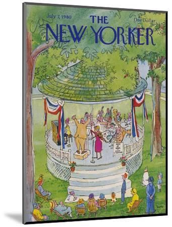 The New Yorker Cover - July 7, 1980-George Booth-Mounted Premium Giclee Print