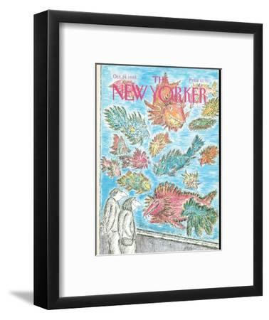 The New Yorker Cover - October 24, 1988-Edward Koren-Framed Premium Giclee Print
